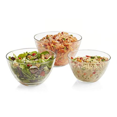 Serving Piece Bowl 3 (Libbey Urban Story 3 piece MultiSize Glass Bowl Set)