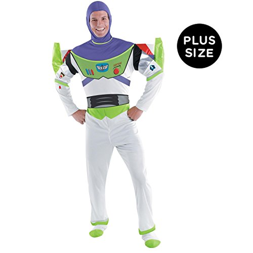 Buzz Light-year Deluxe Adult Costume Size: (Mens Buzz Lightyear Costumes)