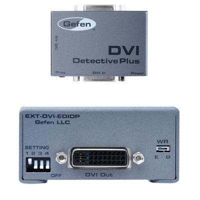 Gefen DVI Detective Plus HDCP Video Detector Emulator Stores EDID EXT-DVI-EDIDP by Gefen
