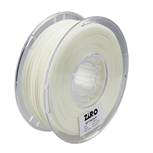 ZIRO 3D Printer Filament PLA 1.75 1KG(2.2lbs), Dimensional Accuracy +/- 0.05mm, Pearl - Pearls Dimensional