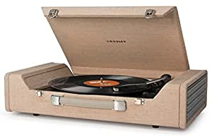 Crosley CR6232A-BR Nomad Portable USB Turntable with Software for Ripping & Editing Audio, Brown