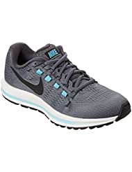 Nike Air Zoom Vomero 12 Running Shoes, Cool Grey/Black-Dark Grey, 8