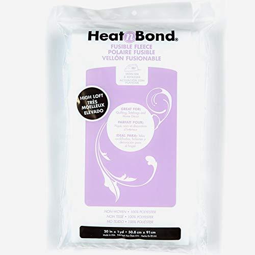 HeatnBond Fusible Fleece High Loft White 20'' x 1 Yard Package