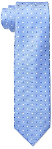 Big Tie - Wembley Big Boys Dijon Dot Tie, Blue, One Size