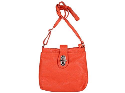 Scarlet per Bijoux donna pelle Borsa in a arancione tracolla qxTrwZaqnz
