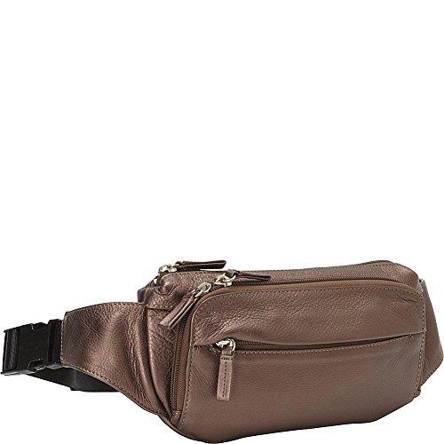 Derek Alexander Four Pocket Waist Bag (Bronze) by Derek Alexander Leather