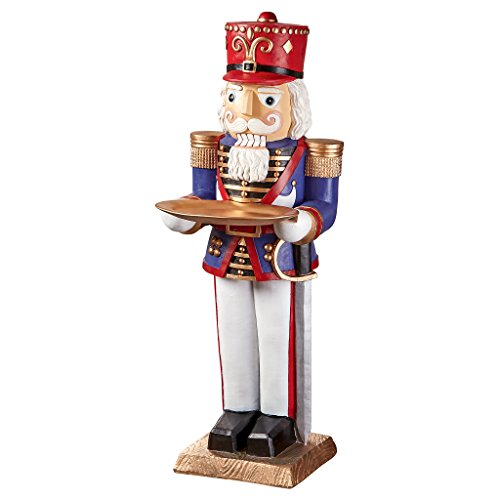 Christmas Decorations - Nutcracker Toy Soldier Butler Holiday Pedestal Table