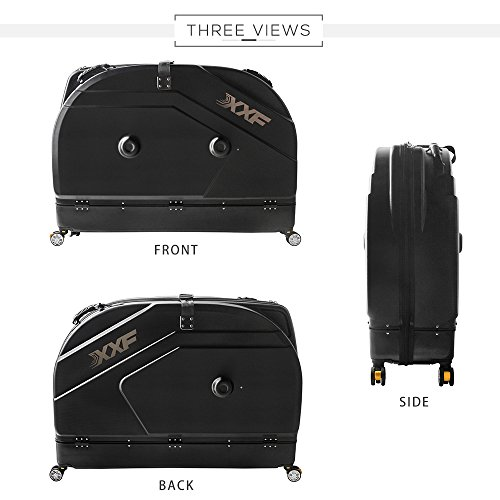 Muses Poem Bike Travel Case for 26''/700C Mountain Road Bicycle Travel Transport Equipment Black by Muses Poem (Image #1)