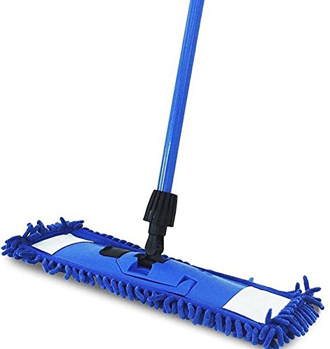Cleankly 360 Degree Professional Microfiber Flat Mop 18'' Stainless Steel Extendable Handle Wet or Dry Mop For Home Kitchen Hardwood Laminate Floors Cleaning by Cleankly (Image #7)