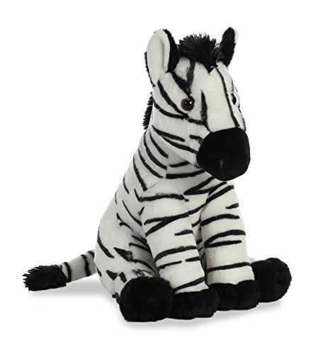 Plush Stuffed Zebra - Aurora World Destination Nation Plush Zebra