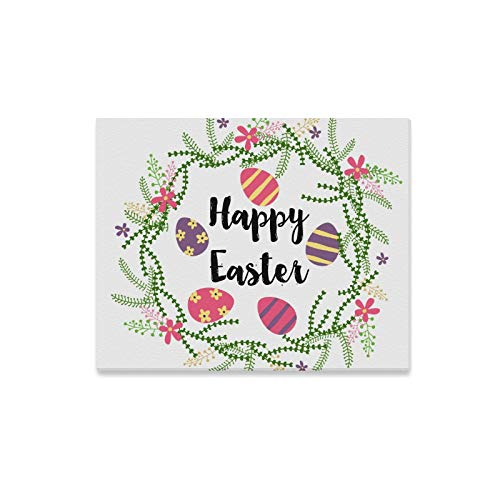 Postcard Photo Easter (Wall Art Painting Hand Drawn Happy Easter Day Postcard Print with Eg Prints On Canvas The Picture Landscape Pictures Oil for Home Modern Decoration Print Decor for Living Room)