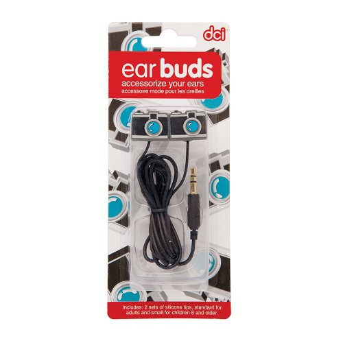 DCI Camera Earbuds for 3.5mm Socket - Retail Packaging - Black