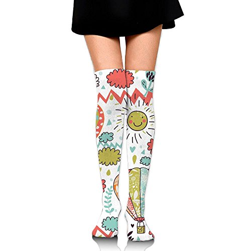 Sunny Happy Logo Over The Knee Long Socks Tube Thigh-High Sock Stockings For Girls & - Sunnies Meaning