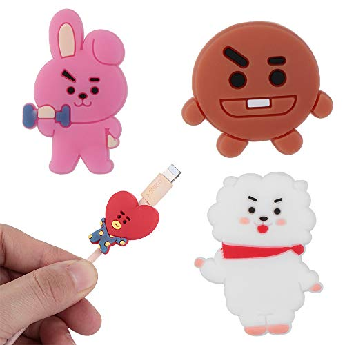 Data Line Cover Charging Cable Bite Kpop Bangtan Boys BT21 Cute Phone Charge Cable Conector Protector TATA Cooky Van (RJ) by maxgoods (Image #2)