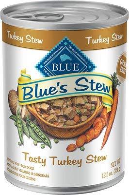 Blue's Tasty Turkey Stew Grain Free Canned Dog Food, 12.5-oz, case of 12