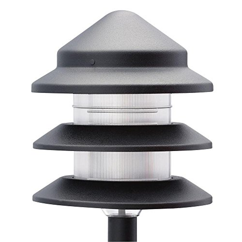 Low Voltage Halogen Black 6 Path Light and 2 Flood Light Kit by Generic (Image #1)