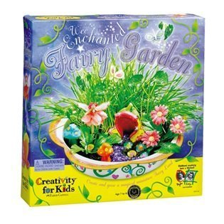 BEST SELLER - Girls MAKE YOUR OWN FAIRY GARDEN SETS - Girls Arts and Crafts Kit - all the fun supplies! (Enchanted Fairy Garden Kit)