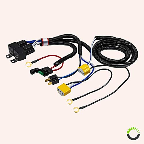 H4(9003) Negative-Switched Headlight Conversion Harness [Two Relay on