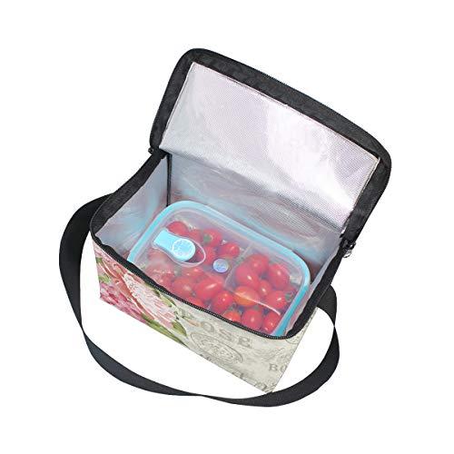 Guirnalda enfriador tarjeta hombro para de Bolsa de correa picnic flores fiambrera de almuerzo para invitación de qYYEHz6wS