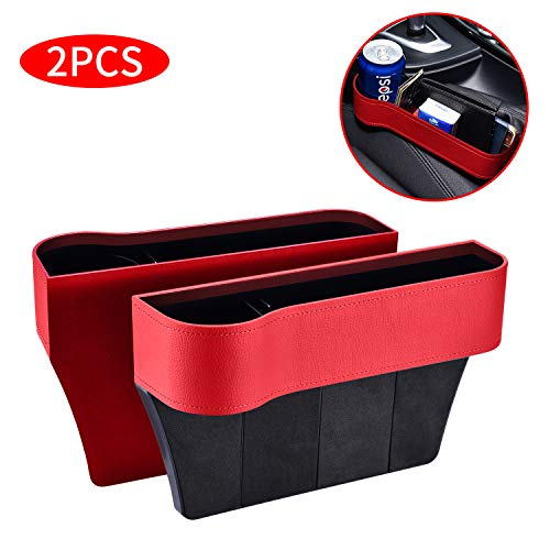 2 paquetes de asiento de coche de poliuretano para asiento de coche, Rojo claro