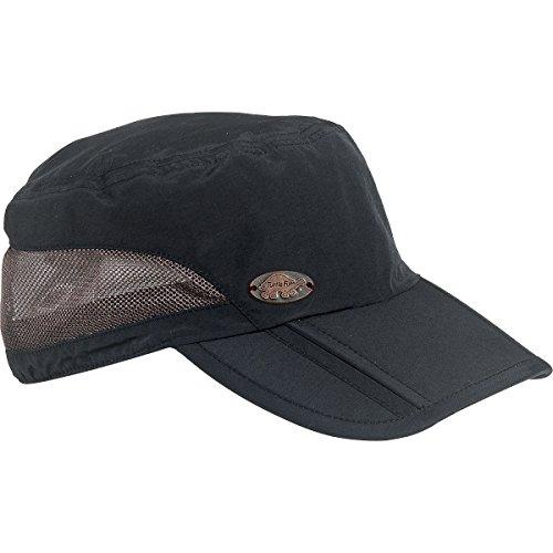 Turtle Fur Men's Riverbed Fred, Lightweight Packable Tri-Fold Visor Ball Cap, Black (Turtle Fur Lightweight Hat)