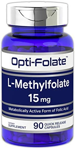 L Methylfolate 15mg | 90 Capsules | Max Potency | Optimized and Activated | Non-GMO, Gluten Free | Methyl Folate, 5-MTHF | by means of Opti-Folate