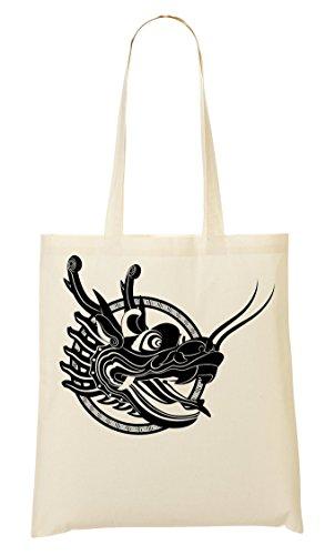 Black Dragon Head Artwork Bolso De Mano Bolsa De La Compra
