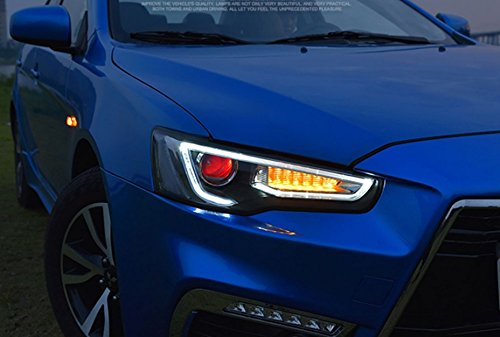 GOWE Car Styling Head Lamp for LANCER Headlights LED Headlight ANGEL EYES BEAM DRL Bi-Xenon Lens HID Automobile Accessories Color Temperature:5000K Wattage:35W 3