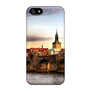 Cute Tpu DaMMeke Prague Bridge Landscape Case Cover For Iphone 5/5s by lolosakes