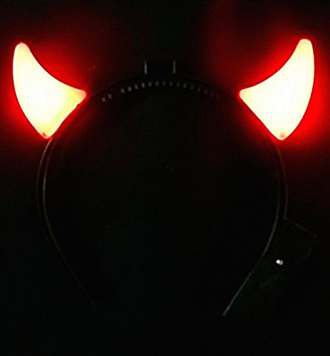 Light Up Steady On Devil Horns - GREAT for AC/DC fans and Halloween! -