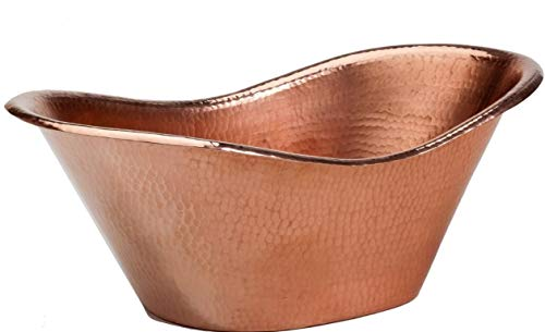 My Swanky Home Luxe Hammered Copper Bath Tub Ice Bucket Scoop Set | Champagne Wine Chiller Bar