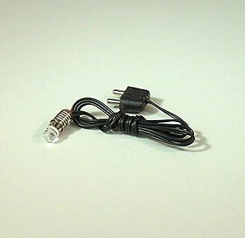 3,5-4,5V. Led L/ämpchen mit Kabel und Stecker rot E10