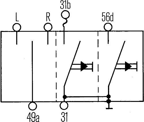 HELLA 6BA 001 539-001 Interruttore lampeggiatore