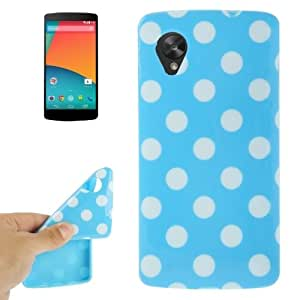Dot Pattern TPU Case for Google Nexus 5 / E980 (Blue)