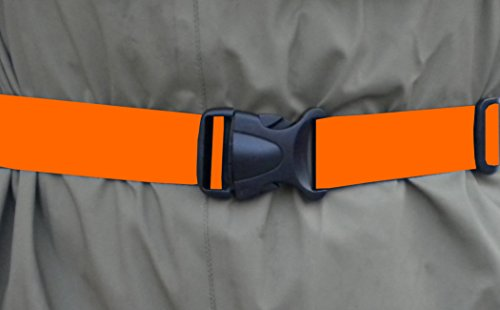 FishYo! Deluxe 1.5' Wading Belt-by BootYo! Best piece of fishing safety gear you can own! Fly fishing, surf casting, tons of uses, High Visibility Safety Orange