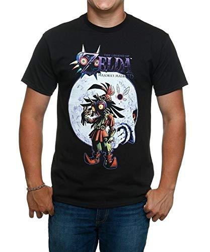 (Boat 101 Men Legend of Zelda Majoras Mask Skull Kid and Moon T-Shirt Black)
