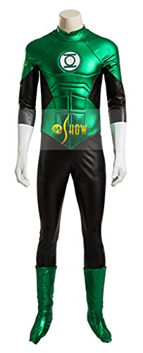 Mtxc Men's Cosplay Hal Jordan Costume Full Set Size XXX-Large Green -