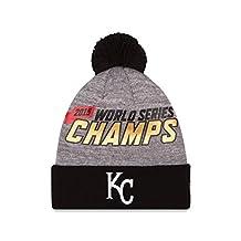 MLB Kansas City Royals Adult World Series Champions Locker Room Knit Beanie, One Size, Gray