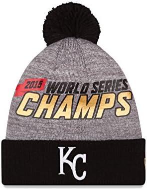 New Era MLB Kansas City Royals Adult World Series Champions Locker Room Knit  Beanie 1fbe3a1e4aa