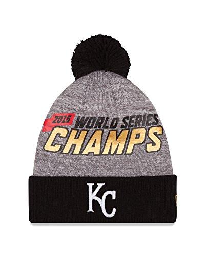 (New Era MLB Kansas City Royals Adult World Series Champions Locker Room Knit Beanie, One Size, Gray)