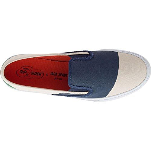Sperry Mens Jack Spade Moln Nautisk Duk Mode Sneaker Marin / Grön Colorblock