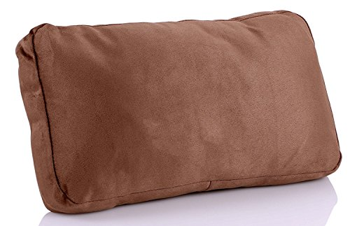 Softest Lumbar Back Support Cushion for Car Seat - Pain Relief, Portable, Plush - 1 Pack of Brown