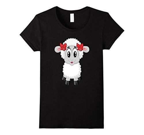 Farm Theme Party Costumes (Womens Sheep Costume Shirt For Farm Animal Theme Party Small Black)