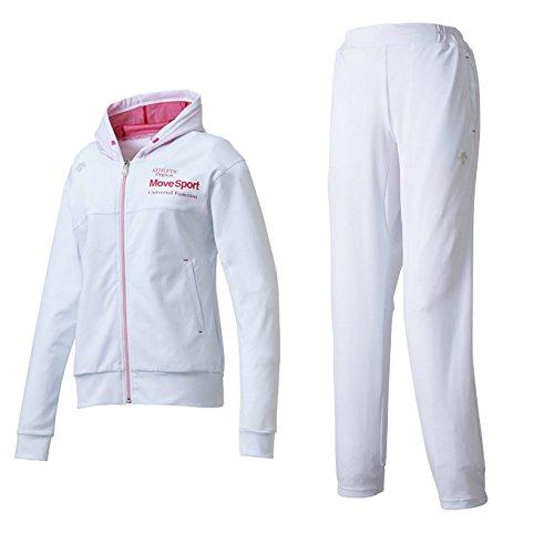 デサント(DESCENTE) レディース サンスクリーン トレーニングジャケット&パンツ上下セット(ホワイト/ホワイト) DMWLJF10-WHT-DMWLJG10-WHT B07BGY6FWS M|ホワイト×ホワイト(WHT/WHT) ホワイト×ホワイト(WHT/WHT) M