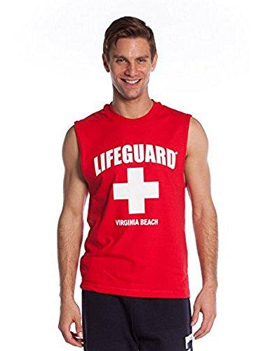 LIFEGUARD Official Guys Printed Muscle Tank Red (Lifeguard Tank)
