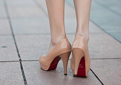 Anbover Femmes Hauts Talons Chaussures De Mariage De Mode Couleur Bonbon Pompes Imperméables Blanches
