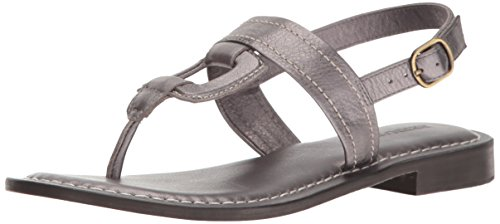 Bernardo Women's Tegan Flat Sandal, Grey Metal, 8 M US