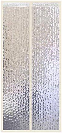 Liveinu W/ärmeschutzvorhang Magnet Thermo T/ürvorhang mit Klebeclip Fliegengitter Panel-Isolierung Thermovorhang Wasserdicht Winddicht Klimaanlage Fliegenvorhang f/ür Balkont/ür Wohnzimmer 70x200cm Blau