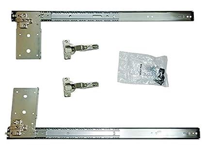 Kv Pivot Door Slide Hardware Inset Application Self Closing 14 1/8u0026quot;  Slide (