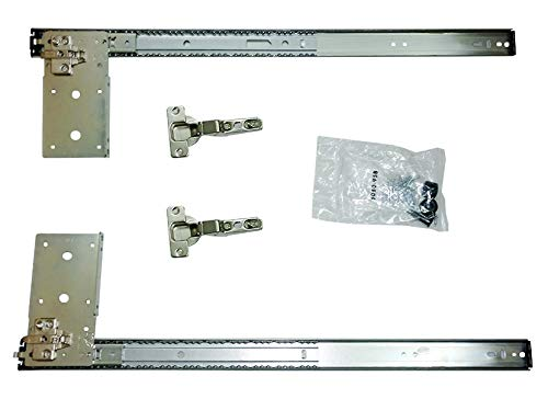 "Kv Pivot Door Slide Hardware Inset Application Self Closing 22 1/8"" Slide (Kit) Anochrome"